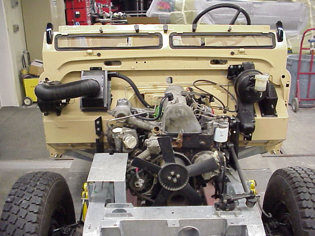 Mercedes 240D engine in a Series Land Rover