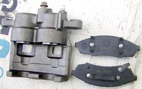 Calipers and pads for Series Land Rover disc brake conversion