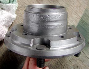 Custom hub casting for  Series Land Rover disc brake conversion