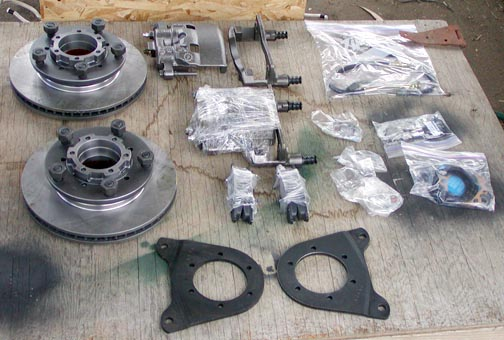 Complete Torrel Industries Disc brake conversion kit for Series Land Rover