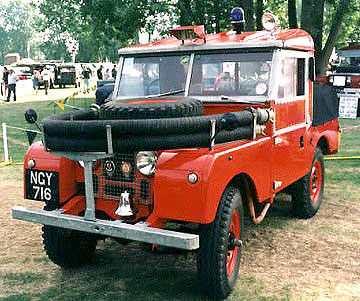 Land Rover series I fire truck