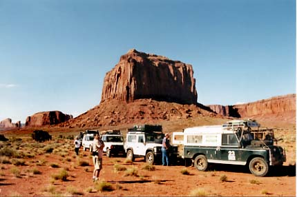 Land Rover tour of Monument Valley