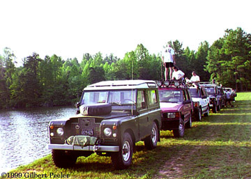 Land Rover in line