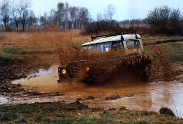 Land Rover playing