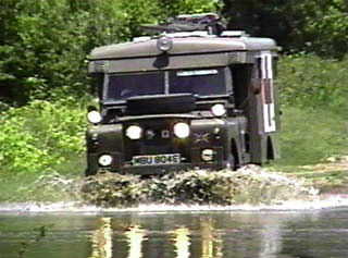 Land Rover ambulance wallowing
