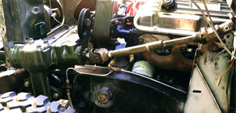 Green Rover steering shaft