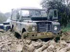 109 Land Rover in the mud