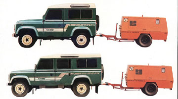 Land Rover max tow specs
