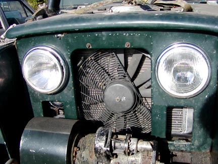 Land Rover custom radiator