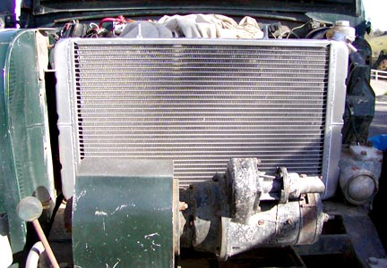 Land Rover radiator trial mount