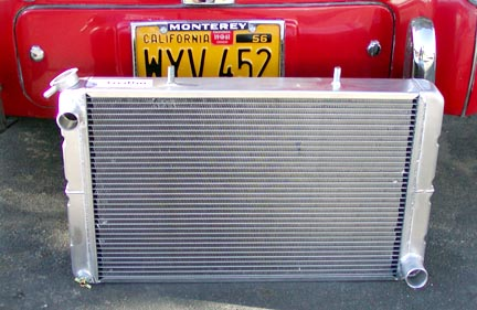 Custom radiator for Series Land Rover