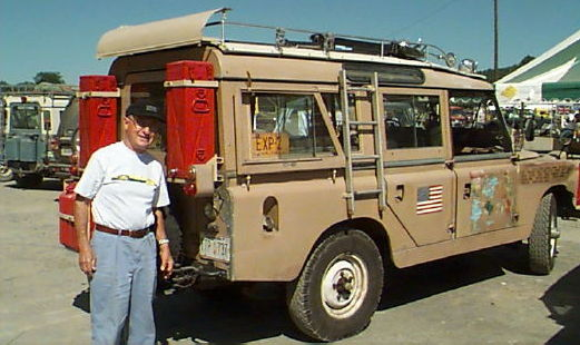Herbert Zipkin and his Land Rover