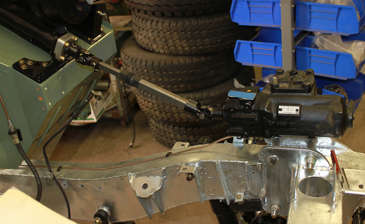 Land Rover power steering conversion