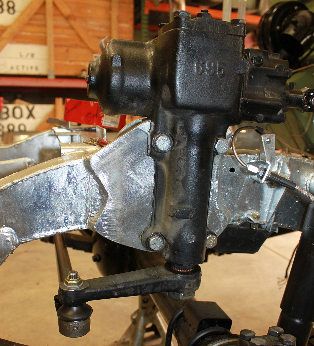 Series Land Rover power steering conversion outside view
